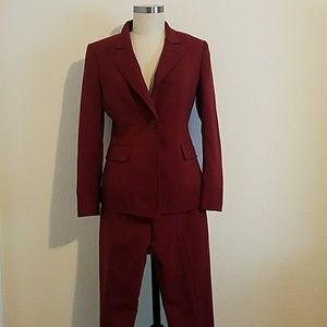 Never Worn Anne Klein Cherry Red Power Pant Suit